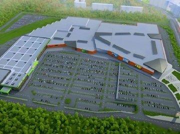 """Челябинцам показали проект """"экологичного"""" ТРК с висячими садами и водопадами"""