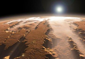 Чудеса Солнечной системы: огромный каньон на Марсе, ледяные гейзеры