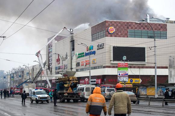 Kemerovo shopping centre fire: Teenagers set fire to foam cubes. 62219.jpeg