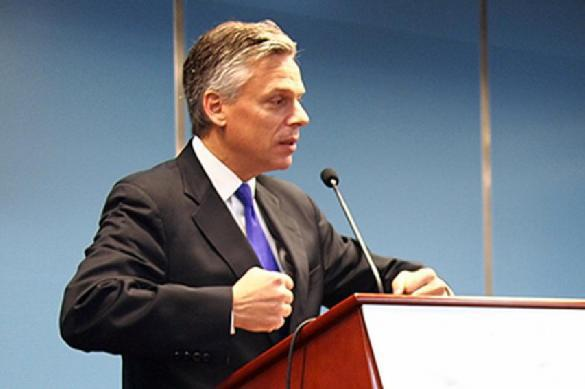 US Ambassador to Russia Huntsman justifies expulsion of Russian diplomats on Russia's day of grief. 62225.jpeg