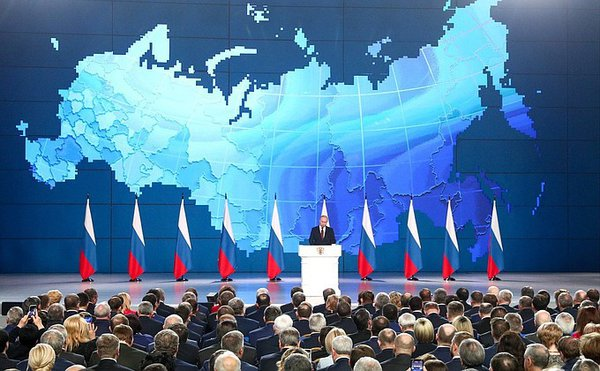 Putin addresses social issues, threatens USA with Russia's new missiles in his Federal Assembly speech. 63427.jpeg