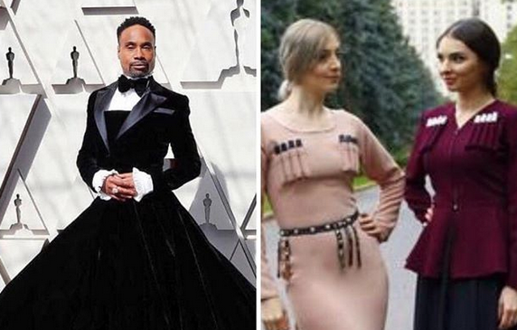 Billy Porter's Oscar gown ridiculed and condemned in Chechnya. 63443.png