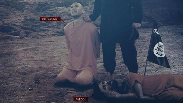 Islamic State executes Messi and Neymar prior to World Cup 2018. 61508.jpeg