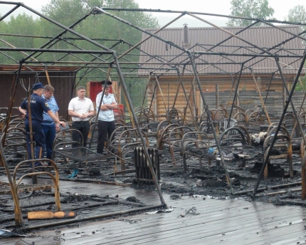 Tent camp fire in Russia kills four children. 63688.jpeg
