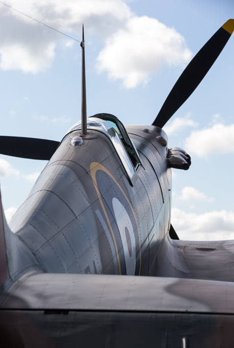 Spitfire goes from sand to the sky