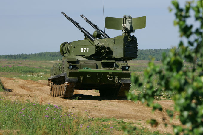 Tunguska self-propelled anti-aircraft system