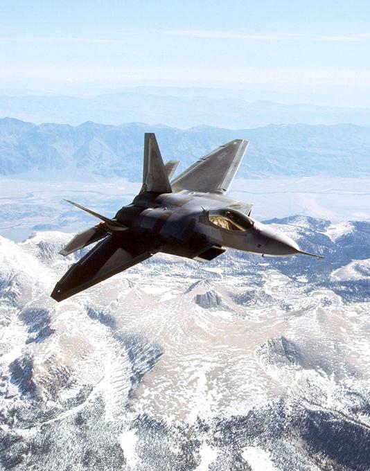 F-22 Raptor in the sky