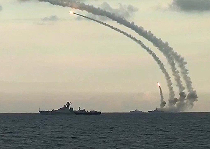 Russia launches Caliber missiles on terrorists