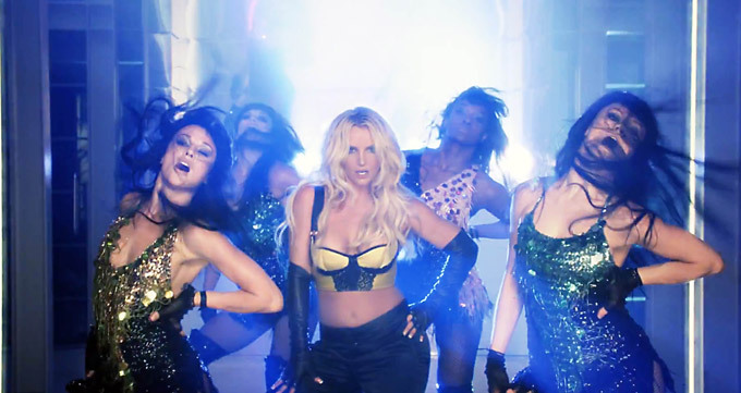 Britney Spears is working it