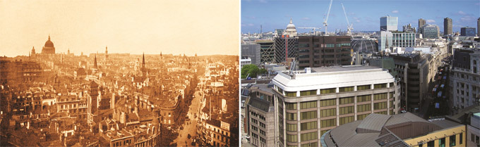 London in late 19th century and today