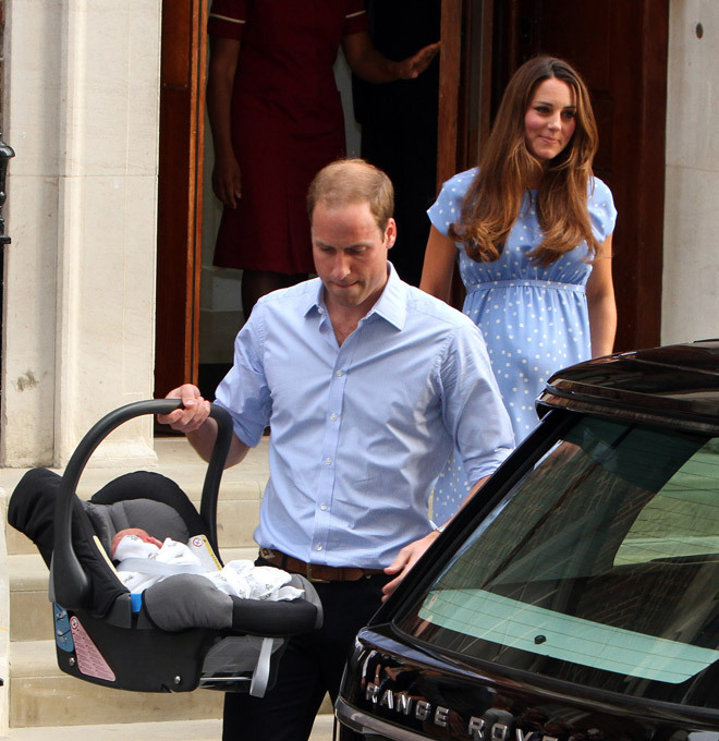 William and Kate get ready for christening of Prince George