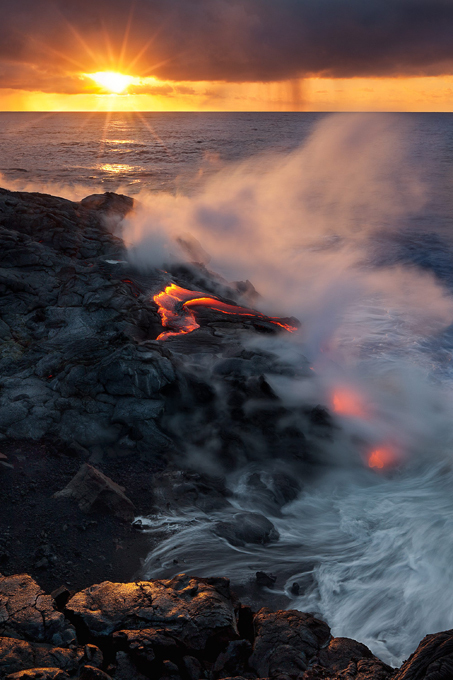 Beauty and power of volcano