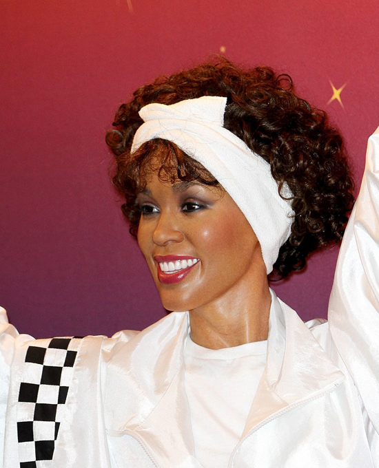 Whitney Houston in 4 waxworks at once