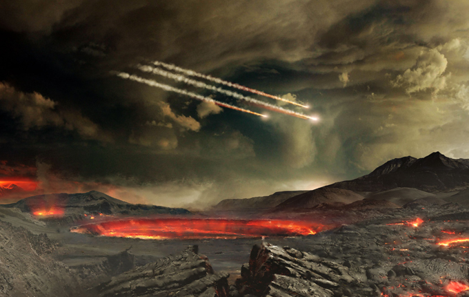 Meteorites terrorizing Earth