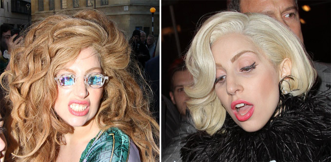 Lady Gaga and her wigs