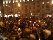 Crowd of angered Spartak fans block traffic in Moscow over fan's death