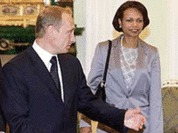 Condoleezza Rice expressed her concern over Russian media shortly after she arrived in Moscow