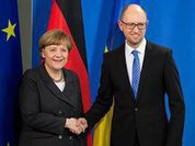 Ukraine's Yatsenyuk prepares Germany for USA's war