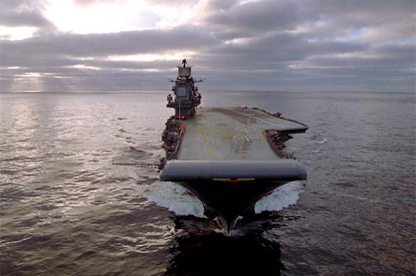 Russian aircraft carrier starts destroying terrorists in Syria