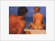 Sunbathing naked or topless poses great danger for women