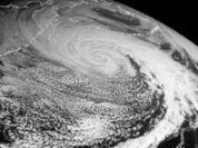 Spring is shifted by a month by Polar cyclone