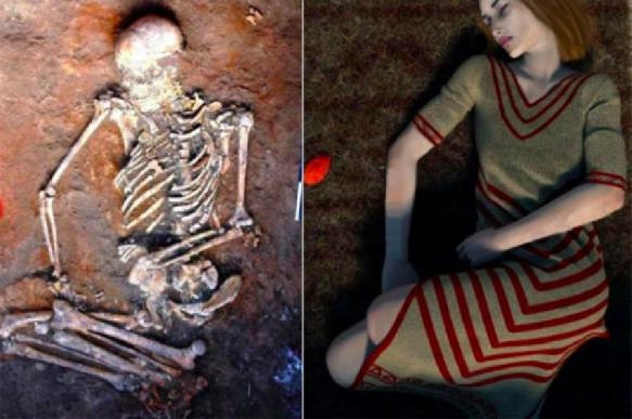 Woman's skeleton with mysterious black markings unearthed in Ukraine