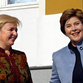 Laura Bush and Lyudmila Putin do not understand their husbands' jokes