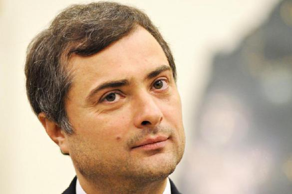 Vladislav Surkov, grey cardinal of the Kremlin, flushes Ukraine down the toilet