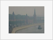 Thick Smog of Peat and Forest Fires Covers Moscow
