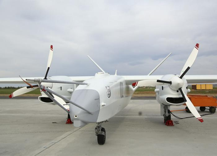 Russian heavy combat UAV Altius tests its weapons in action