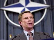 Russia's defense minister sets claims to NATO in Brussels