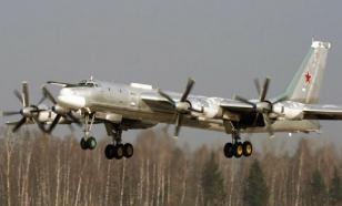 Russian Tu-95 missile carriers fly over neutral waters of Sea of Japan