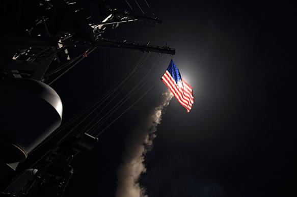 USA attacks sovereign state Syria