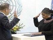UN Women Executive Director Phumzile Mlambo-Ngcuka sworn in today
