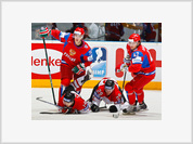 Ice Hockey: Russia Thrashes Canada 5-2. The Men and the ….boys.