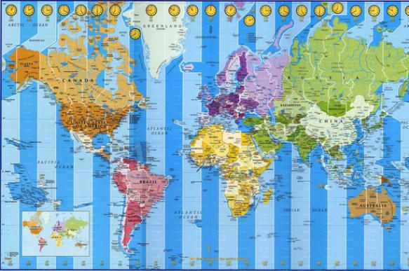 Interesting facts about time zones