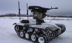 Russian army shows world's first kamikaze robots in action