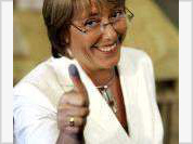 Socialist Michelle Bachelet becomes Chile's first female president