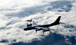 US fighter jets take off to intercept Russian bomber planes near Alaska