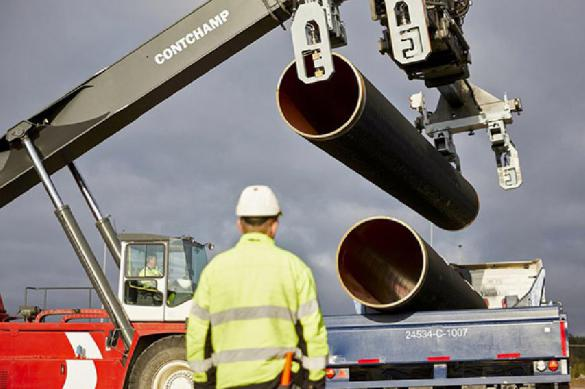 The last pipe of the Nordstream 2 gas pipeline system has been welded.