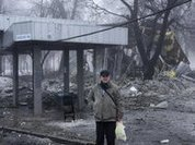 Shell explodes at bus stop in Donetsk: 13 killed