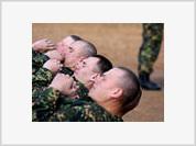 Caucasian Servicemen Use Slavic Soldiers' Bodies to Spell 'Kavkaz'