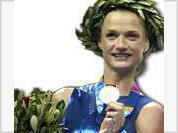 Heroic deed of Russian gymnast Svetlana Khorkina at Athens' Olympics