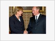Merkel and Putin become friends over pelmeni and bear meat