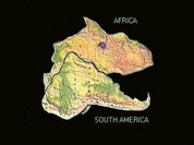 """Pangea: """"Africa and South America were one continent in the form of dinosaur head"""""""