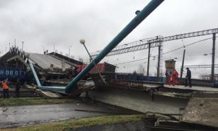 Bridge collapses on Trans-Siberian Railway. Video