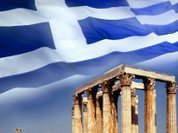 Exhaustion of Greek political system and society in flames