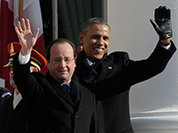 Obama and Hollande hug each other as world's gendarmes