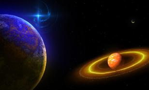 Uranus and the Earth in solar conjunction on October 24