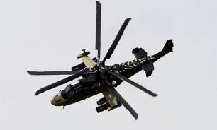 Russian helicopters Ka-52 destroy terrorists in Syria. Video